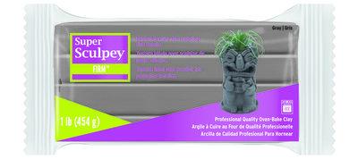 Super Sculpey Firm -- Gray, 1 lb (454 g)