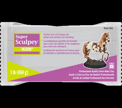 Super Sculpey Medium Blend -- Gray, 1 lb (454 g)