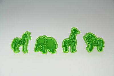 Plunger Cutters [Elephant Lion Zebra Giraffe)