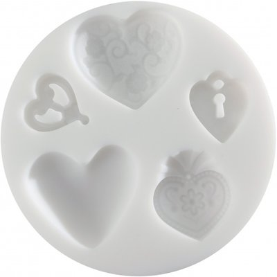 Silecon mould Hearts 2