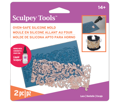 Sculpey Silicone Oven Safe Mold -- Lace