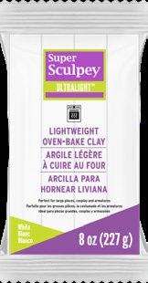 Super Sculpey UltraLight -- White, 8 oz (226 g)