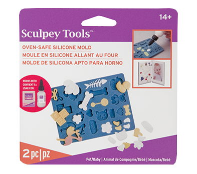 Sculpey Silicone Oven Safe Mold -- Pet-Baby
