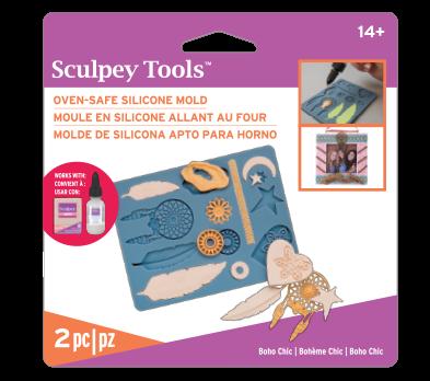 Sculpey Silicone Oven Safe Mold -- Boho Chic