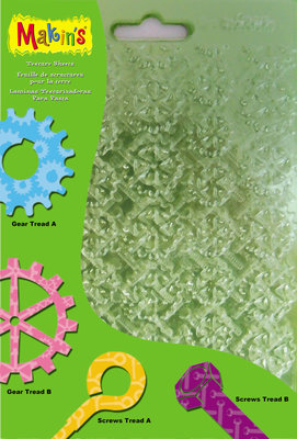 Texture Sheets Set F [Gears, Eyelag Screws, Hex Bolds, Spockets)