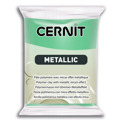Cernit Metallic, 56gr - Turquoise Gold 054